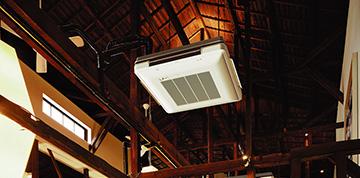 工場や特殊な用途、高い天井など設置場所が特殊なエアコン